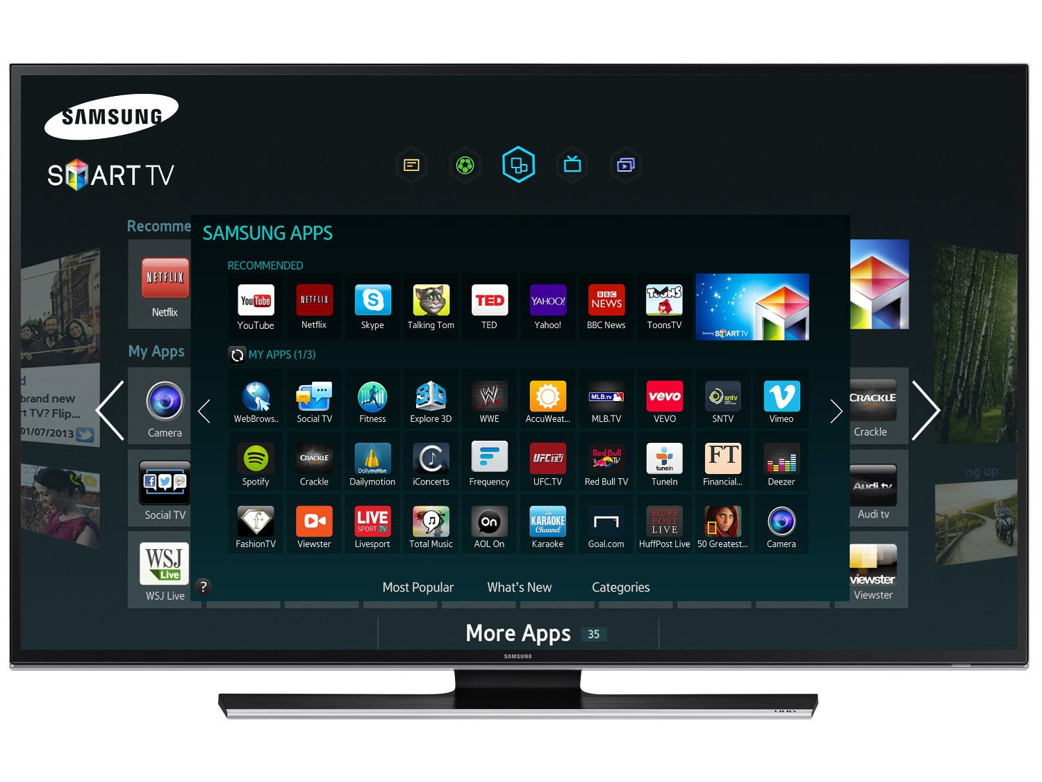 Samsung Smart tv 7000 Samsung's Smart tv App Store